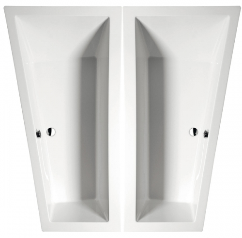 Raumspar Badewanne Andrea 170 x 90 x 45 cm Links/ Rechts, Acryl 90 x ...