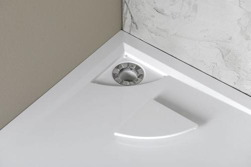 mineralguss viertelkreis duschwanne luisa 90 x 90. Black Bedroom Furniture Sets. Home Design Ideas
