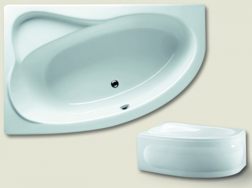raumspar badewanne lyon 170 x 110 x 46 5 cm links rechts acryl 110 x 170 elegante markenbadewanne. Black Bedroom Furniture Sets. Home Design Ideas